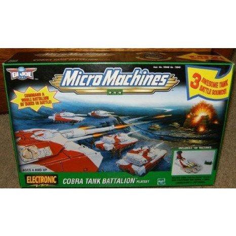 GI Joe Micro Machines Cobra Tank Battalion Electronic プレイセット ミニカー ミニチュア 模型 プレイ