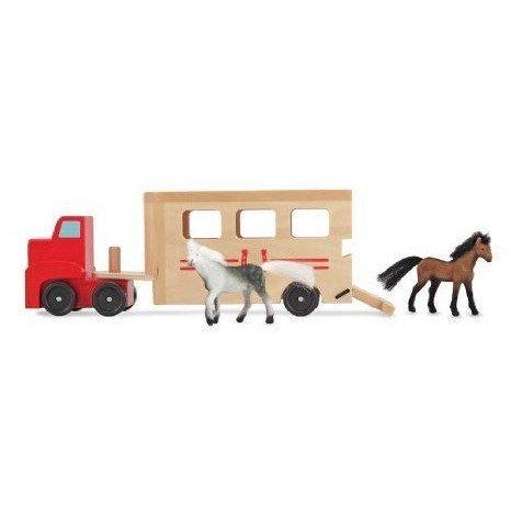 Horse Carrier ミニカー ミニチュア 模型 プレイセット自動車 ダイキャスト