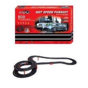 Hot Speed Police Pursuit 1:32 スケール Slot Car Race Track Set ミニカー ミニチュア 模型 プレイセッ