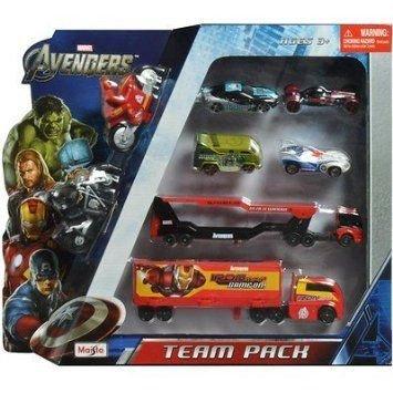 Marvel Avengers Team Pack ミニカー ミニチュア 模型 プレイセット自動車 ダイキャスト