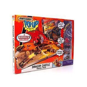Matchbox (マッチボックス) Pop Up Adventure Set Dragon Castle Travel Pack ミニカー ミニチュア 模型