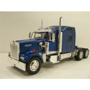 NewRay 1:32 scale Kenworth W900 diecast model trailer truck Cab Blue ミニカー ミニチュア 模型 プレ
