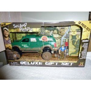 Swamp People トラック & Boat Play Set Includes Troy Landry Action Figure ミニカー ミニチュア …