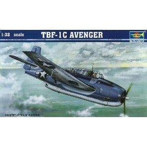 Trumpeter 1/32 TBF1C Avenger Aircraft ミニカー ミニチュア 模型 プレイセット自動車 ダイキャスト