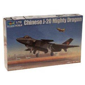 Trumpeter 1/72 Chinese J20 Fighter ミニカー ミニチュア 模型 プレイセット自動車 ダイキャスト