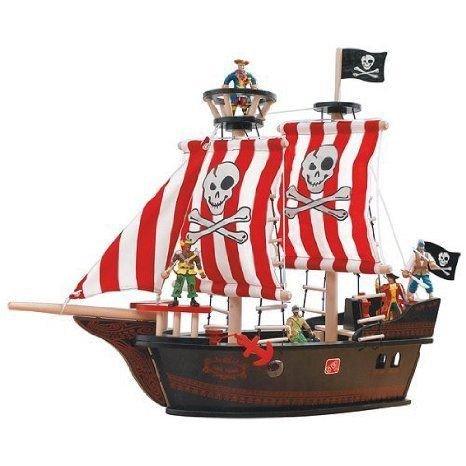 Woodland Adventures Pirate Ship ミニカー ミニチュア 模型 プレイセット自動車 ダイキャスト