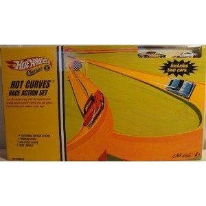 Hot Wheels (ホットウィール) Classics Hot Curves Race Action Set ミニカー ミニチュア 模型 プレイセ