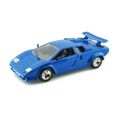 ダイキャストカー ランボルギーニ カウンタック 5000 Quattrovalvole ブルー 1/24