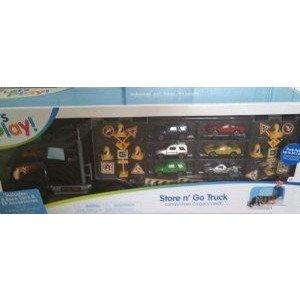 Let's Play Store n. Go トラック ミニカー ミニチュア 模型 プレイセット自動車 ダイキャスト