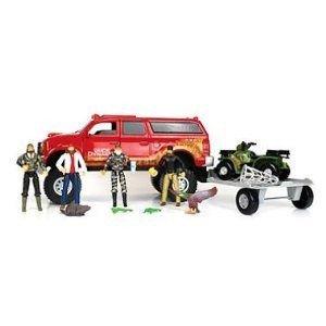 Duck Dynasty トラック & トレーラー Toy Set 19 Piece ミニカー ミニチュア 模型 プレイセット自動車…
