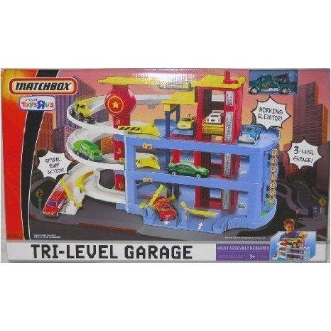 Matchbox (マッチボックス) Tri-Level Garage プレイセット ミニカー ミニチュア 模型 プレイセット自動