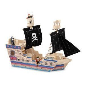 Melissa & Doug (メリッサ&ダグ) Deluxe Pirate Ship Play Set ミニカー ミニチュア 模型 プレイセ…
