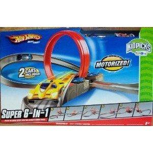Hot Wheels (ホットウィール) KidPicks Super 6-in-1 Motorized Track Set ミニカー ミニチュア 模型 プ
