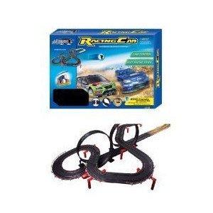 Rally Racing 1:43 スケール Slot Car Racing Track ミニカー ミニチュア 模型 プレイセット自動車 ダイ