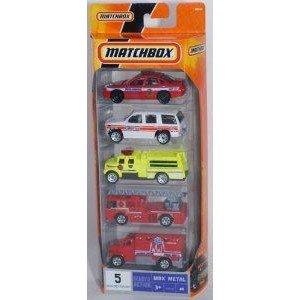 Matchbox (マッチボックス) MBX Metal Emergency Vehicles 5 Pack ミニカー ミニチュア 模型 プレイセッ