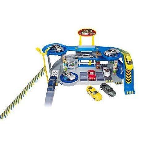 fast lane car showroom play set ages 3+ ミニカー ミニチュア 模型 プレイセット自動車 ダイキャスト