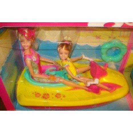 Barbie Sisters Beach Adventure Gift Set ミニカー ミニチュア 模型 プレイセット自動車 ダイキャスト