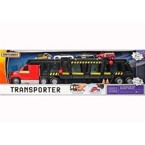 Matchbox (マッチボックス) KidPicks Car Transporter - Red ミニカー ミニチュア 模型 プレイセット自動