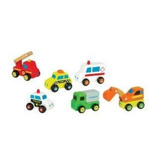 Ryan's Room City Service Wooden Vehicle - Styles May Vary(Qty 1) ミニカー ミニチュア 模型 プレイセ