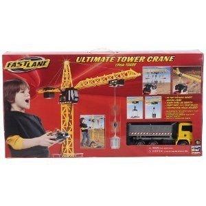 Fast Lane Remote-Control Mega Crane ミニカー ミニチュア 模型 プレイセット自動車 ダイキャスト
