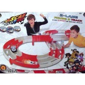 Scan 2 Go Figure 8 Race Track ミニカー ミニチュア 模型 プレイセット自動車 ダイキャスト