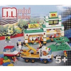 Ministeck Mini Builder Big Garage, Car & Breakdown トラック ミニカー ミニチュア 模型 プレイセ…