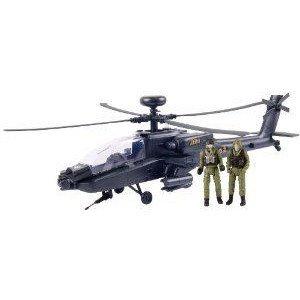 Giant AH-64 Apache Helicopter プレイセット ミニカー ミニチュア 模型 プレイセット自動車 ダイキャス