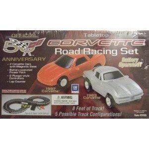 Corvette Road Racing Set ミニカー ミニチュア 模型 プレイセット自動車 ダイキャスト