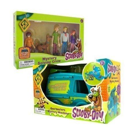 Scooby Doo - Goo Mystery Machine & Mystery Solving Crew Set ミニカー ミニチュア 模型 プレイセ…