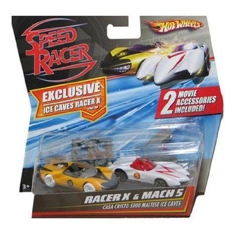 Speed Racer 1:64 Hot Wheels (ホットウィール) Car 2-Pack Racer X & Mach 5 ミニカー ミニチュア …