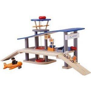 Plan Toys (プラントイ) City Series Airport ミニカー ミニチュア 模型 プレイセット自動車 ダイキャス