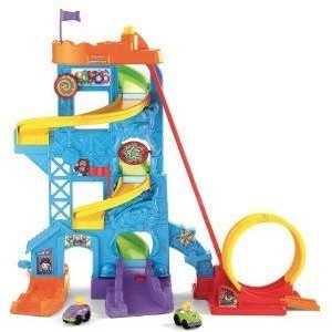 Fisher-Price (フィッシャープライス) Wheelies Loops 'n Swoops Amusement Park ミニカー ミニチュア 模