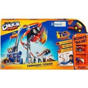 Chuck and Friends Tornado Tower, with 2 Bonus トラックs ミニカー ミニチュア 模型 プレイセット自動