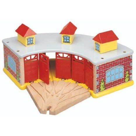 Maxim Big Train Roundhouse with 5-Way Track ミニカー ミニチュア 模型 プレイセット自動車 ダイキャス