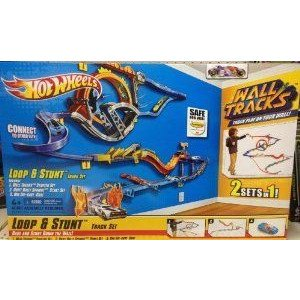 Mattel (マテル) Hot Wheels (ホットウィール) Wall Tracks Loop & Stunt Track Set ミニカー ミニチ…