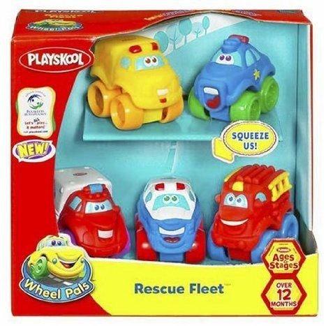 Playskool Wheel Pals Rescue Fleet ミニカー ミニチュア 模型 プレイセット自動車 ダイキャスト