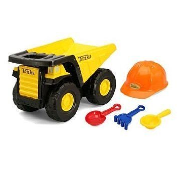 Tonka (トンカ) Mighty Dump トラック Classic Steel includes Hard Hat and Tools ミニカー ミニチュア