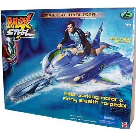 Max Steel MX77 Sharkruiser ミニカー ミニチュア 模型 プレイセット自動車 ダイキャスト