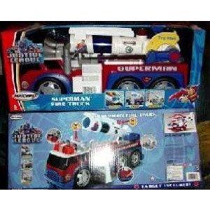 2003 Matchbox (マッチボックス) Justice League Superman Huge 消防車 ミニカー ミニチュア 模型 プレイ