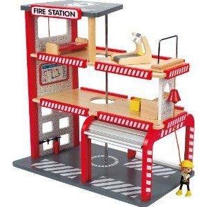 Hape (ハペ) Playscapes Fire Station ミニカー ミニチュア 模型 プレイセット自動車 ダイキャスト