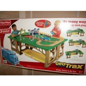 Fisher-Price (フィッシャープライス) GeoTrax Train Table and RC Set ミニカー ミニチュア 模型 プレイ