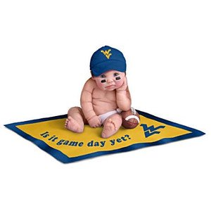 【アシュトンドレイク】West Virginia Mountaineers Fan Baby Doll Collectio/赤ちゃん人形/ベビードール
