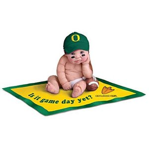 【アシュトンドレイク】University Of Oregon Ducks Fan Baby Doll Collectio/赤ちゃん人形/ベビードール