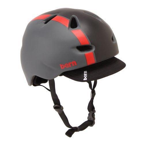 Bern バーン Brentwood ブレントウッド ヘルメット サイクリング 自転車 Matte Red/Grey Bomber VM3MGRB
