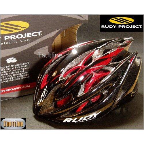 ルディプロジェクト Rudy Project Sterling Mサイズ 54~58 ブラックxレッド ヘルメット