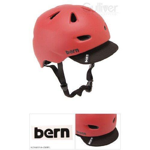 Bern バーン Brentwood ブレントウッド ヘルメット サイクリング 自転車 BMX Matte Red w/ Visor VM3MRV