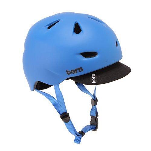 Bern バーン Brentwood ブレントウッド ヘルメット サイクリング 自転車 BMX Matte Cobalt Blue w/ Visor