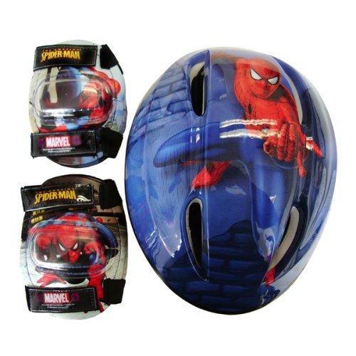 The Amazing Spiderman スパイダーマン 子供用ヘルメット プロテクターセット