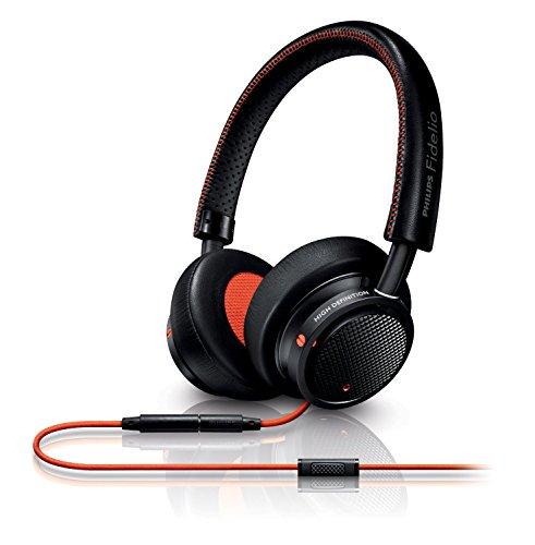 フィリップス Fidelio M1 MKII Black/Orange iPhone対応マイク&コントローラー搭載ダイナミック密閉型…