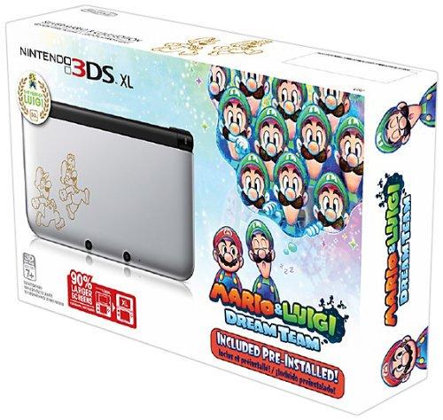 Nintendo 3ds Xl Silver Mario Amp Luigi Limited Edition 輸入版